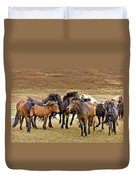 Annual Horse Round Up-laufskalarett Duvet Cover