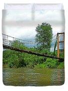 Another Bridge Over River Kwai In Kanchanaburi-thailand Duvet Cover