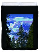 Another Fine Day On Planet Earth Duvet Cover