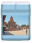 Another Hindu Temple N Bhaktapur Durbar Square In Bhaktapur -nepal Duvet Cover