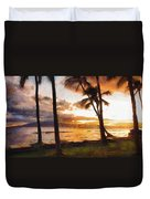 Another Maui Sunset - Pastel Duvet Cover