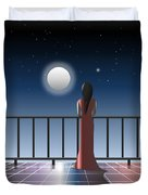 Another Night Alone Duvet Cover