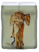 Another Perspective Of The Winged Lady Of Samothrace  Duvet Cover