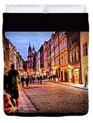 Another Prague Night - Czech Republic Duvet Cover
