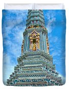 Another Stupa At Grand Palace Of Thailand In Bangkok Duvet Cover