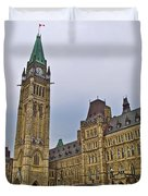 Another View Of Parliament Building In Ottawa-on Duvet Cover