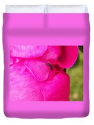 Ant On Pink Petals Duvet Cover