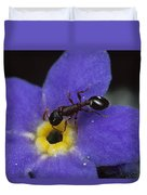 Ant With Pollen Enters Alpine Duvet Cover