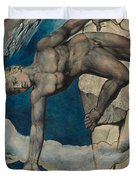 Antaeus Setting Down Dante And Virgil In The Last Circle Of Hell Duvet Cover