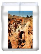 Anthony Howarth Collection - Gold- Re-working Old Mines - S.a. Duvet Cover