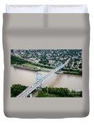 Anthony Wayne Bridge Toledo Ohio Duvet Cover