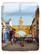 Antigua Guatemala Clock Duvet Cover