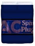 Antique Ac Spark Plug Sign Duvet Cover
