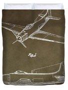 Antique Airplane Patent Duvet Cover