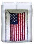 Antique American Flag Duvet Cover