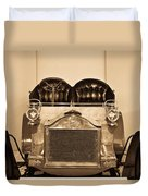 Antique Auto In Sepia Duvet Cover