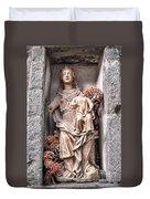 Antique Blessed Virgin Statue Duvet Cover