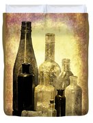 Antique Bottles From The Past Duvet Cover