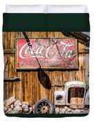 Antique Building At The Techatticup Gold Mine Duvet Cover