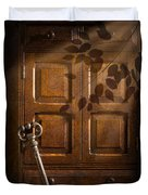 Antique Cabinet Duvet Cover by Amanda Elwell