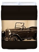 Antique Car In Sepia 1 Duvet Cover