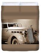Antique Car In Sepia 2 Duvet Cover