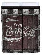 Antique Coca Cola Signs Duvet Cover
