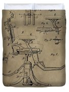 Antique Dental Chair Patent Duvet Cover