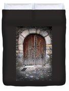 Antique Door Wood Duvet Cover