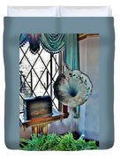 Antique Edison Phonograph In The Boardwalk Plaza Lobby - Rehoboth Beach Delaware Duvet Cover