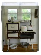 Antique Estate Stove With Cookware Duvet Cover