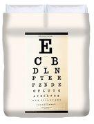 Antique Eye Chart Duvet Cover