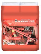Antique Farmall Cub Engine Duvet Cover
