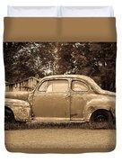 Antique Ford Car Sepia 1 Duvet Cover
