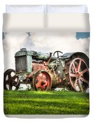Antique Fordson Tractor - Americana Duvet Cover by Gary Heller