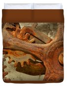 Antique Hand Mixer Gears Duvet Cover