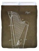 Antique Harp Patent Duvet Cover