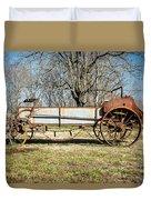 Antique Hay Bailer 3 Duvet Cover by Douglas Barnett