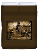 Antique Hearse As Tintype Duvet Cover