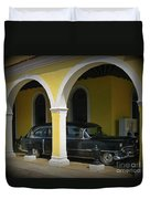 Antique Hearse In Havana Cemetary Duvet Cover