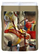 Antique Horse Cart Duvet Cover by Michelle Calkins