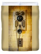 Antique Intercom Duvet Cover
