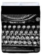 Antique Keyboard - Bw Duvet Cover