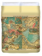Antique Map Of The Baltic And North Sea Ports  Duvet Cover