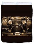 Antique Mercedes Benz In Sepia Duvet Cover