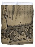 Antique Mining Trolley Patent Duvet Cover