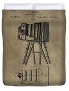 Antique Photographic Camera Patent Duvet Cover