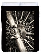 Antique Plane Engine Duvet Cover
