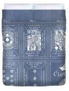 Antique Playing Cards Duvet Cover