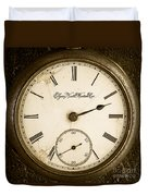 Antique Pocket Watch Duvet Cover
